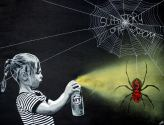 'Abbotts Web' $350 +p&h 100x75cm Stencil Artwork on Canvas - ship via courier